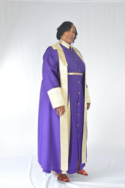 3-Piece Ladies Bishop Vestment Cassock 2