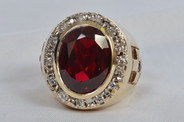 Bishop Ring Ruby
