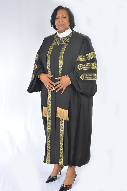 Women's Doctoral w/ brocade trim & overlay