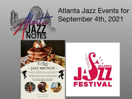 Atlanta Jazz Listings for 9/4/21