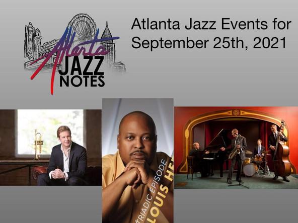 Atlanta Jazz Listings for 9/25/21