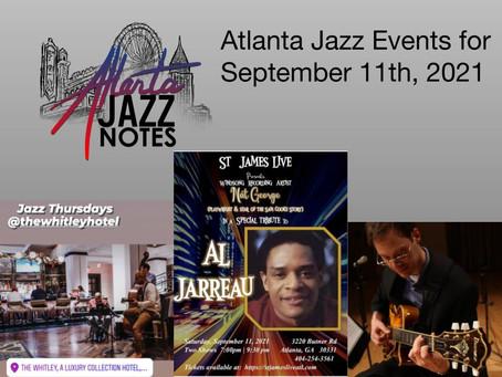 Atlanta Jazz Listings for 9/11/21