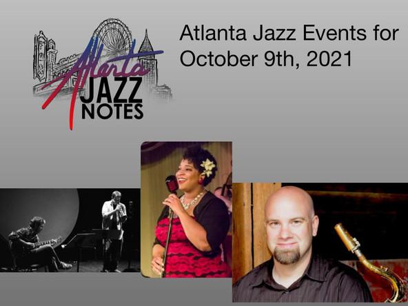 Atlanta Jazz Listings for 10/9/21