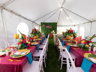 Tropical Outdoor tented event