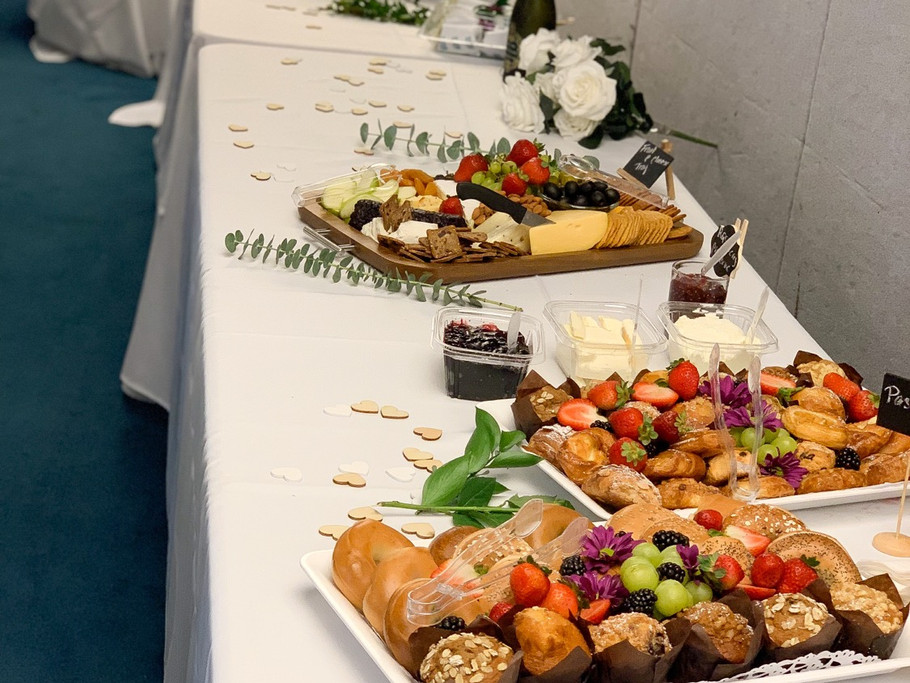 Corporate brunch buffet setup
