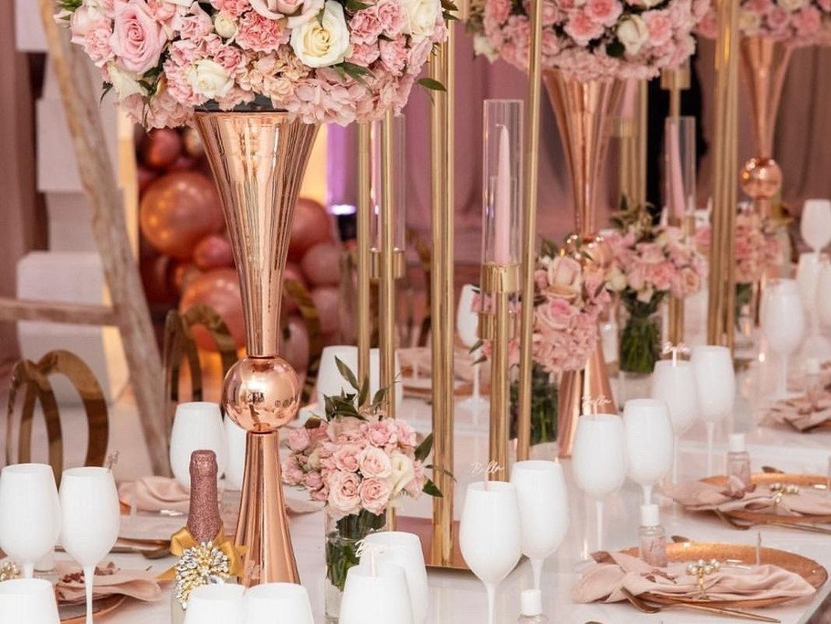 Pink High Floral Centerpieces