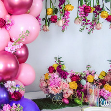 Easter Set-up and Balloon Garland