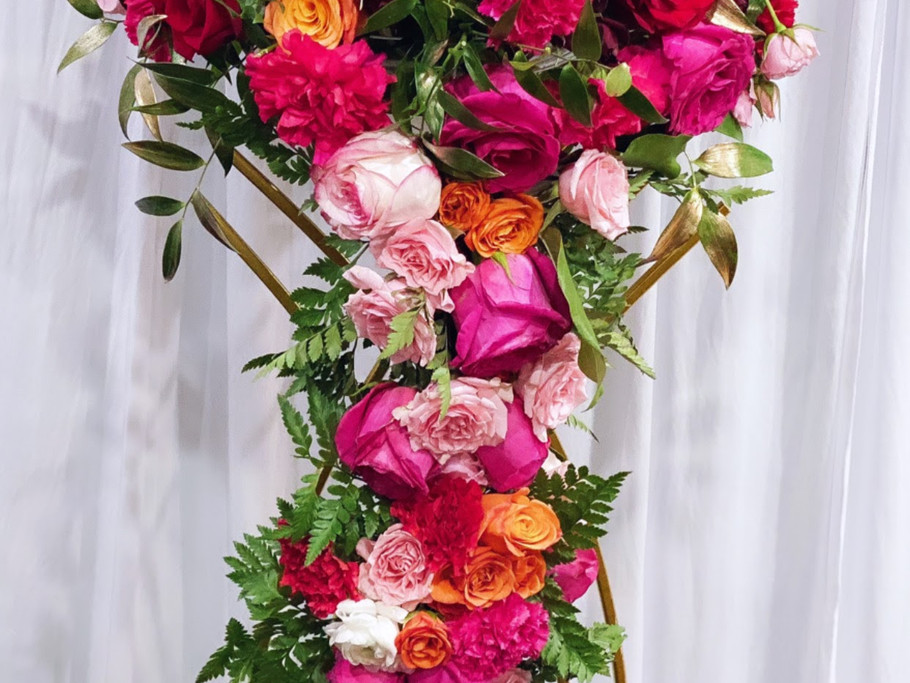 Bright Colored Floral Centerpiece