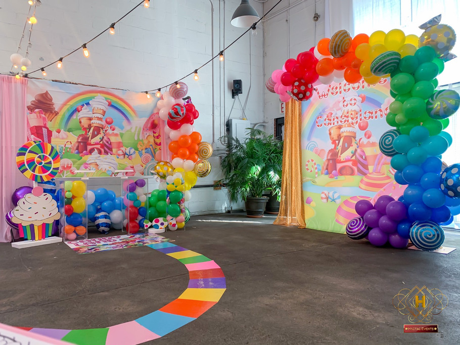 Candyland birthday main area setup
