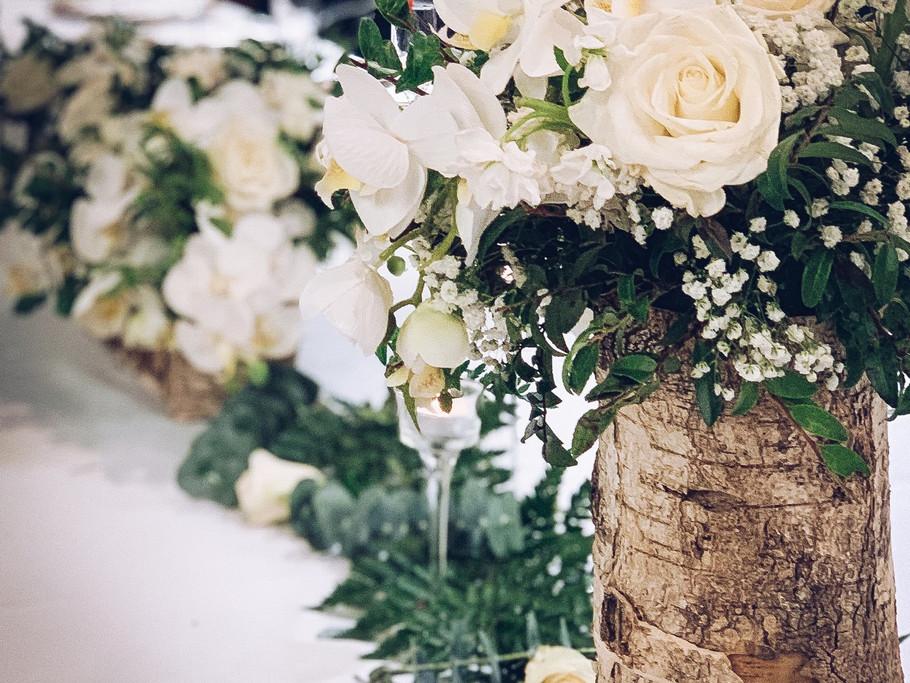 Rustic Elegance Floral centerpiece