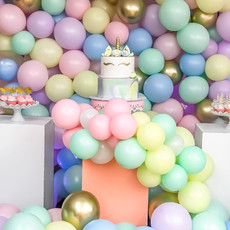 Pastel balloon & unicorn baby shower