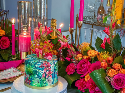 Tropical Theme Cake