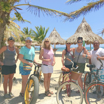 Guests heading out for a bike ride.