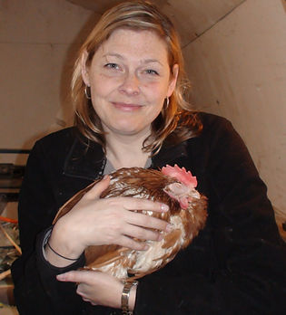 Me with rescued hen - Copy.jpg