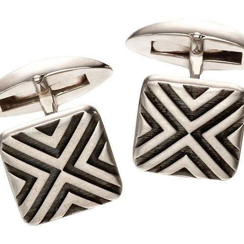 Oxidised silver cufflinks