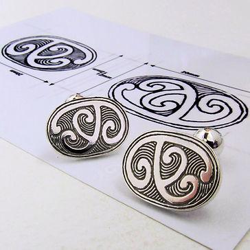 silver maori cufflinks
