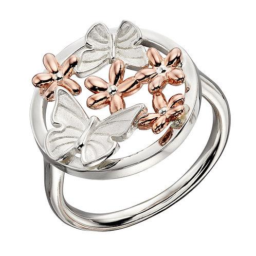 Gold vermeil floral ring