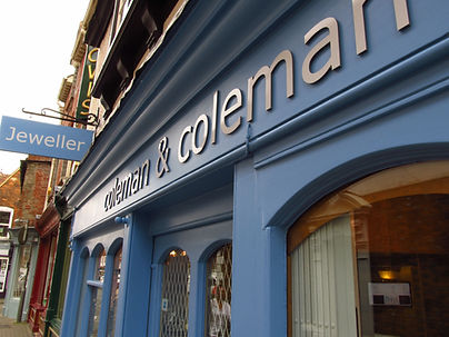 coleman and coleman jewellery shop front