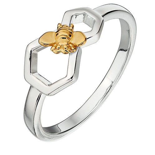 Gold vermeil Bee ring