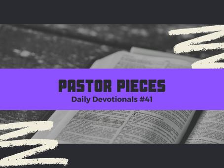 March 1, 2021 - Monday - Devotional #41