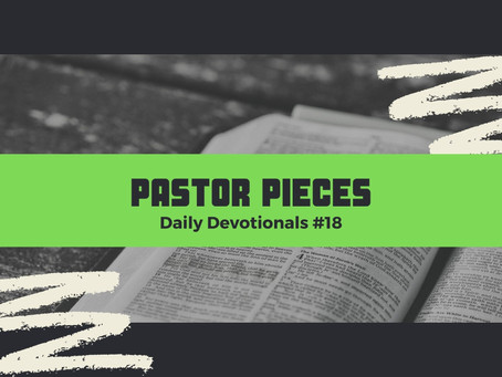 January 27, 2021 - Wednesday - Devotional #18