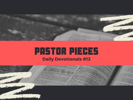 January 19, 2021 - Tuesday - Devotional #12