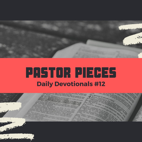 January 19, 2021 - Tuesday - Devotional #12