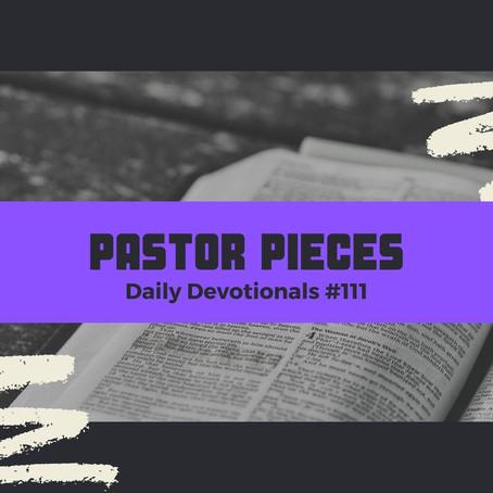June 7, 2021 - Monday - Devotional #111