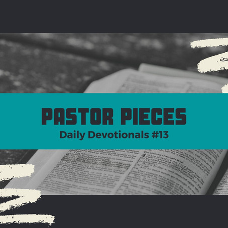 January 20, 2021 - Wednesday - Devotional #13