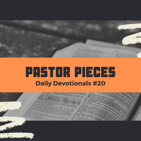 January 29, 2021 - Friday - Devotional #20
