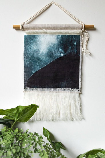 Whale Tail on Belgian Linen