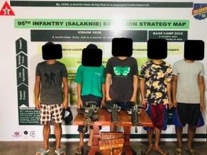 5 NPA rebels surrender with guns