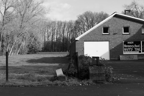 Belgian houses in the fields