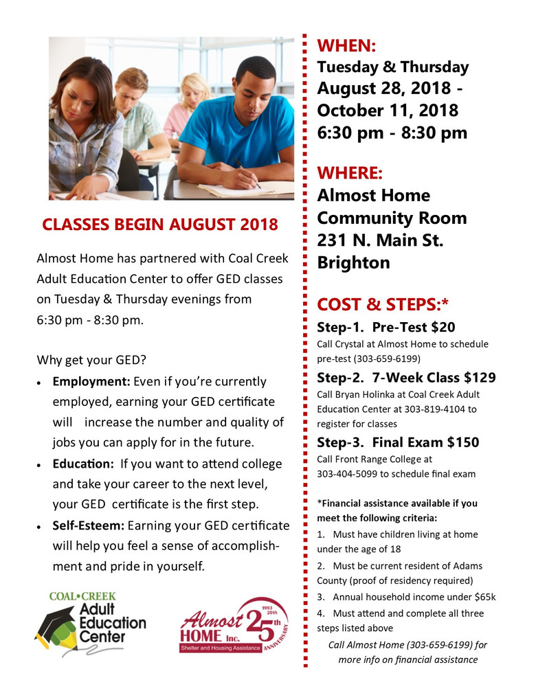 Financial Assistance Available to Get Your GED