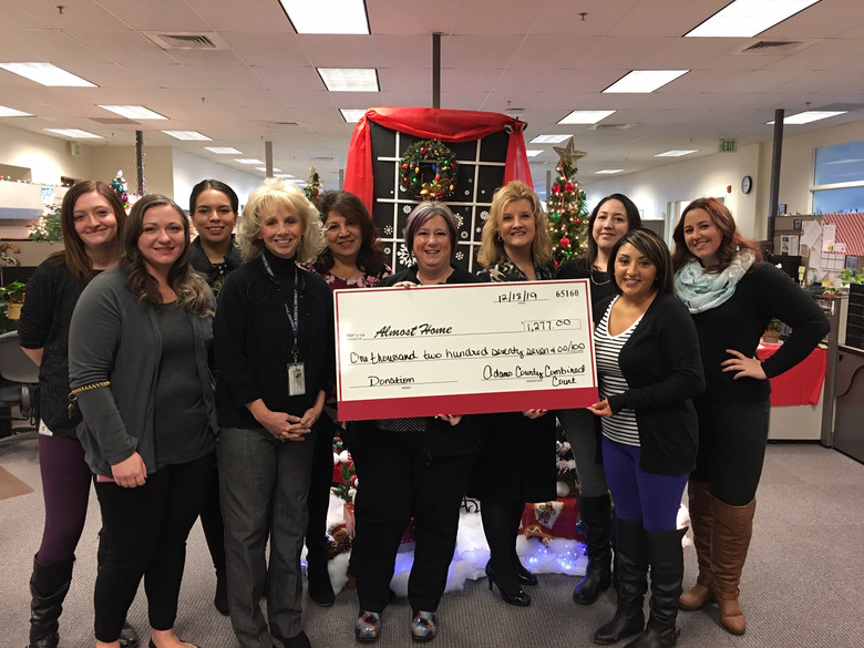 Adams County Combined Courts Makes Holiday Donation to Almost Home