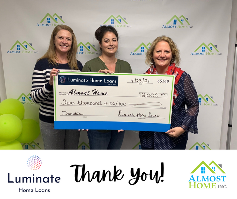 Luminate Home Loans Workplace Fundraiser to Benefit Almost Home
