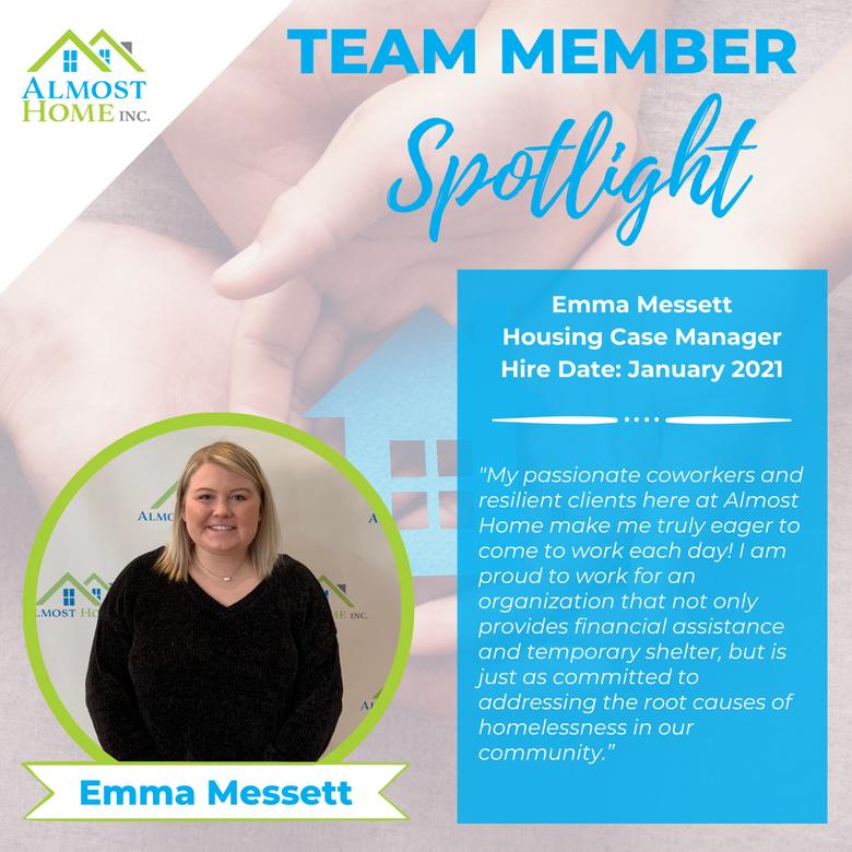 Team Member Spotlight - Emma Messett, Housing Case Manager