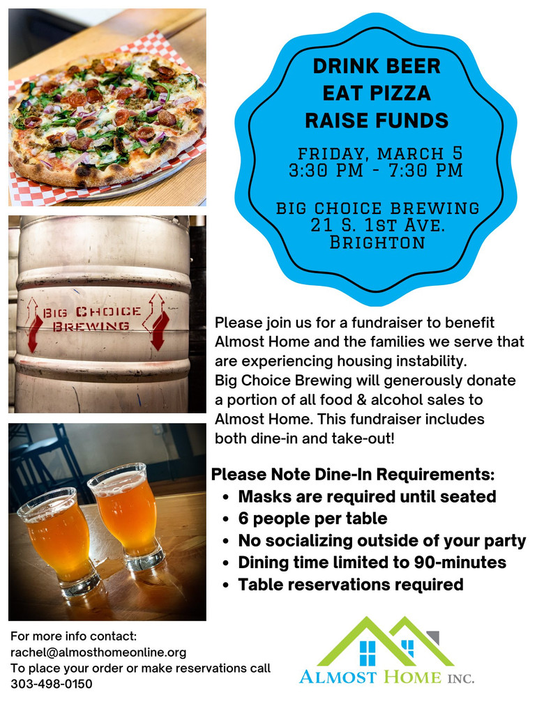 Big Choice Brewing Hosts Fundraiser to Benefit Almost Home