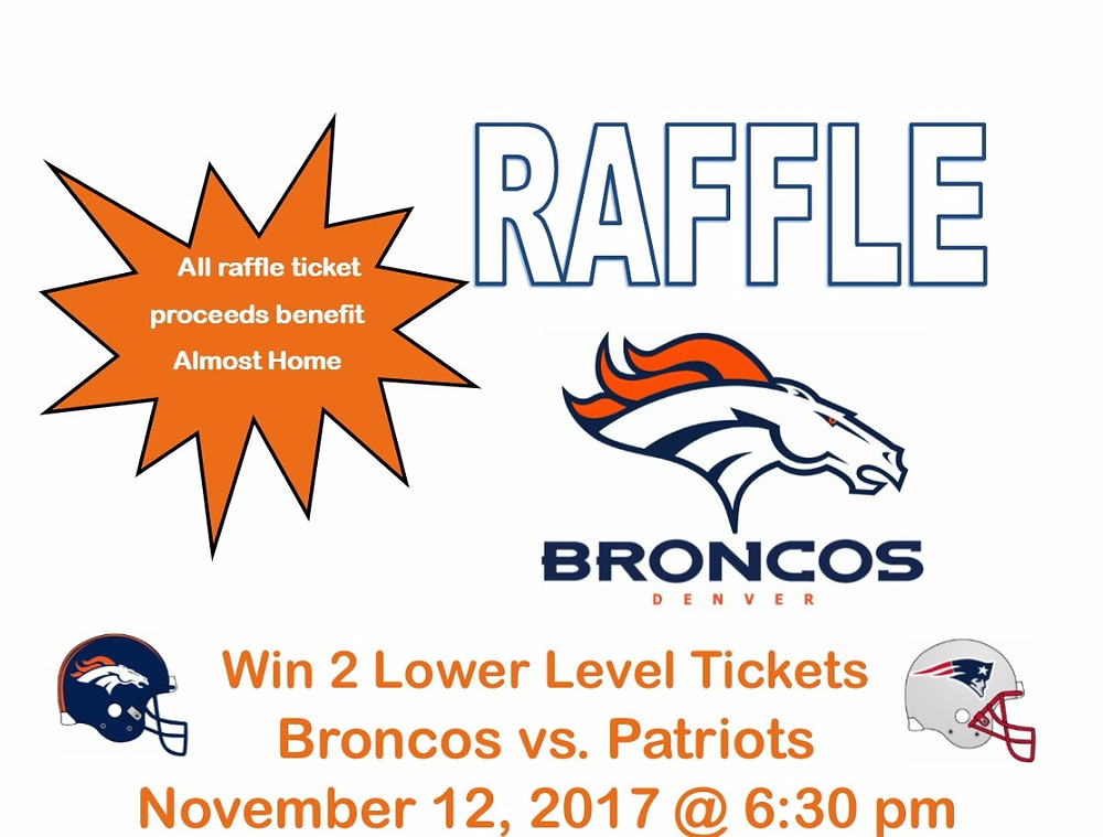 Congratulations to Marvin Herlitska, the winner of the Denver Broncos v New England Patriots tickets!! Many thanks to everyone that bought a raffle ticket in support of Almost Home. 🏈 🏈🏈