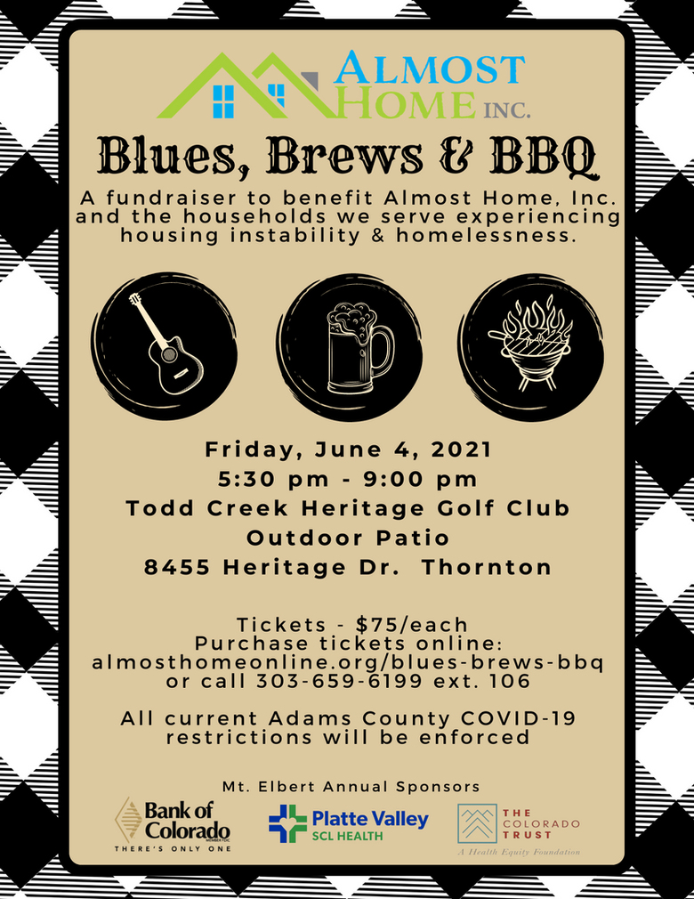 Almost Home Announces Blues Brews & BBQ Fundraising Event