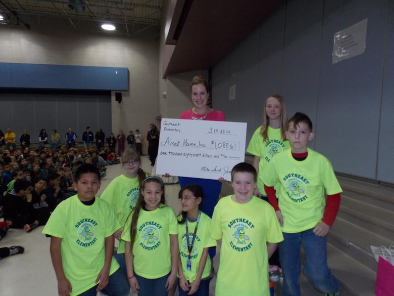 Southeast Elementary Donates $1,088.61!