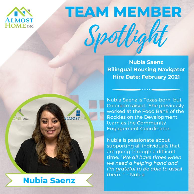 Team Member Spotlight - Nubia Saenz, Bilingual Housing Navigator