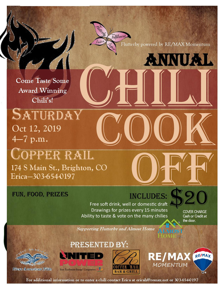 Flutterby Hosting Annual Chili Cook-Off to Benefit Almost Home