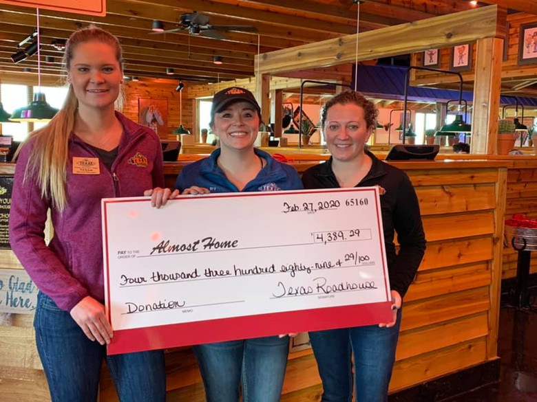 Texas Roadhouse Soft Opening Benefits Almost Home