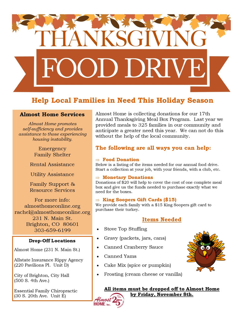 Help Provide a Traditional Thanksgiving Meal to a Family in Need