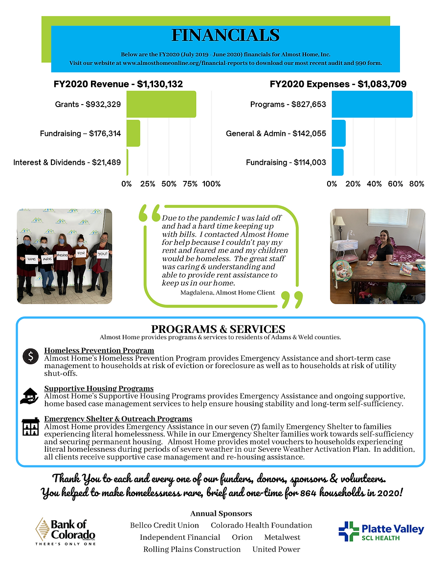 Almost Home FY2020 Annual Report pg 2.pn