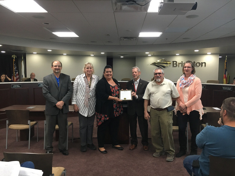 City of Brighton Presents Certificate of Proclamation to Almost Home