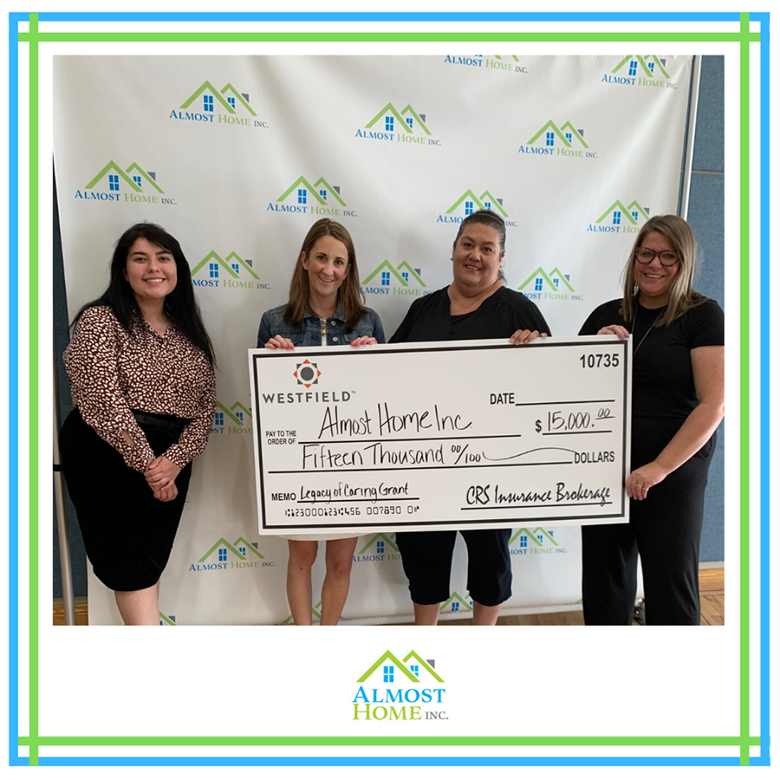 Almost Home Receives Grant From Westfield Insurance Foundation