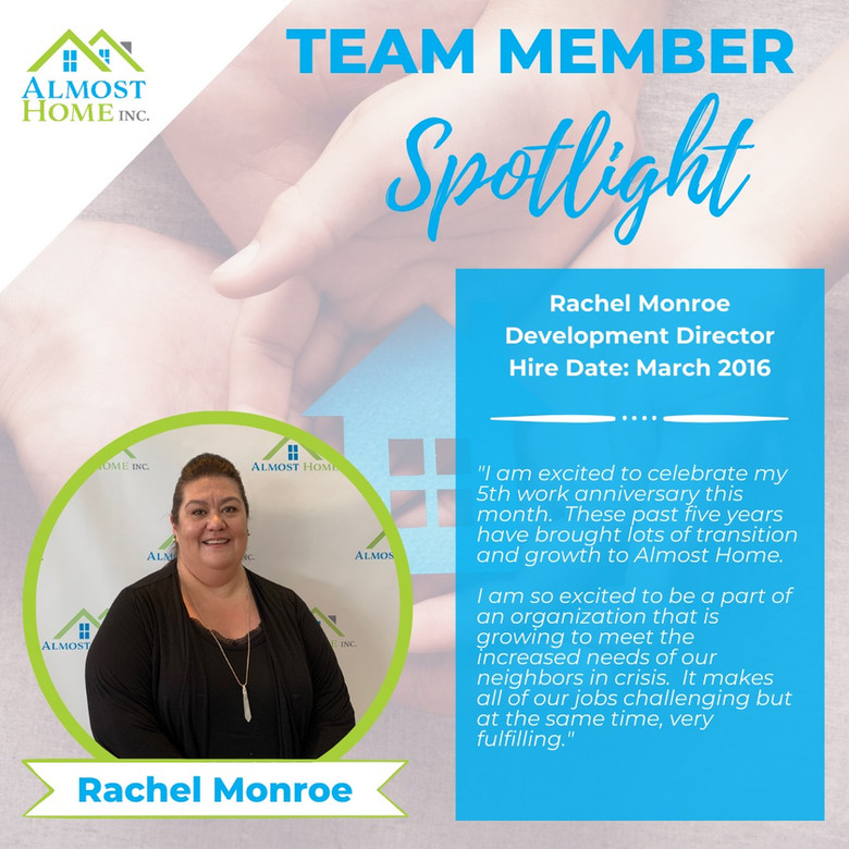 Team Member Spotlight - Rachel Monroe, Development Director