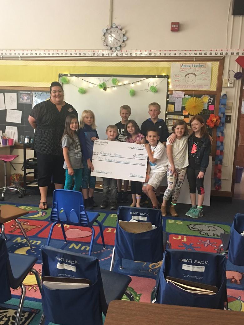 Edison Elementary Makes Penny Harvest Donation